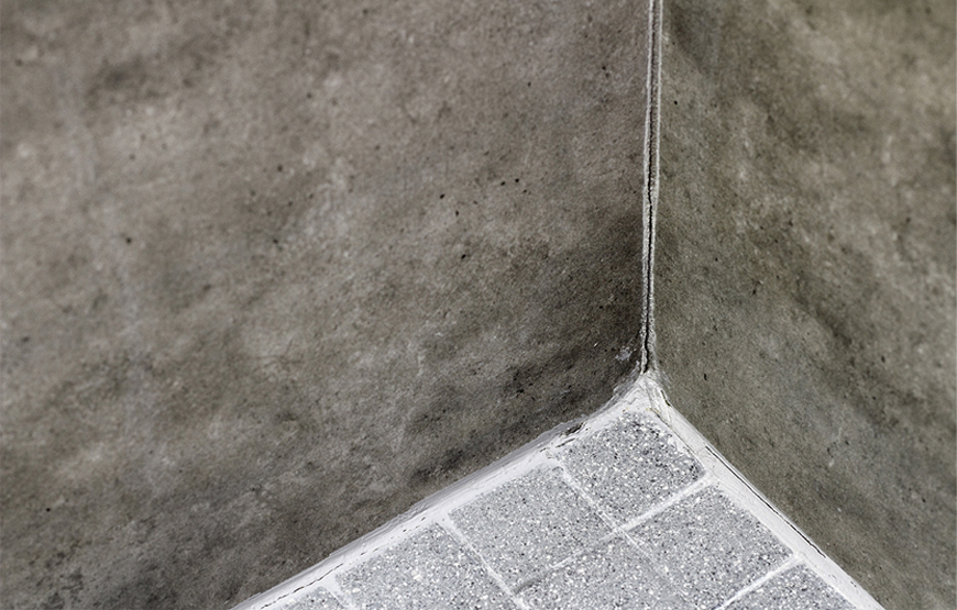 Shower corner cement based grout movement crack