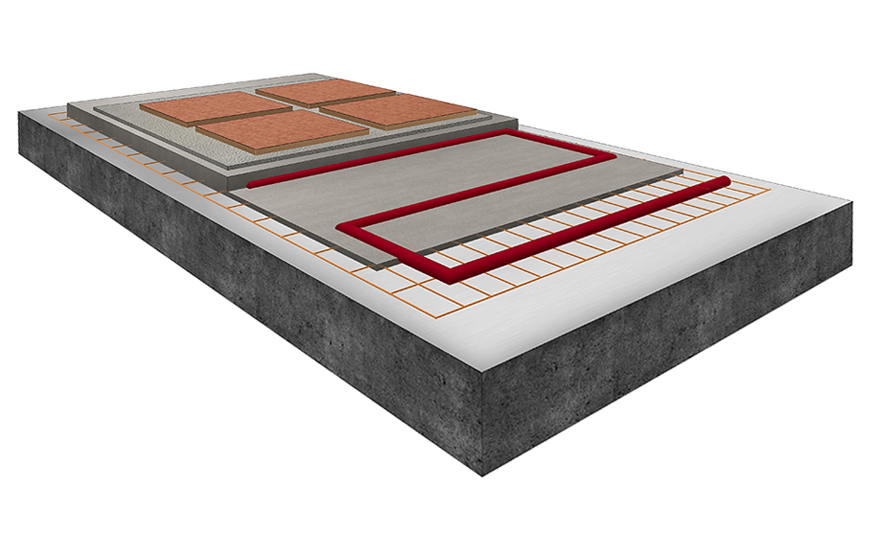 Tiling onto electrical under-tile warming mats on solid substrates
