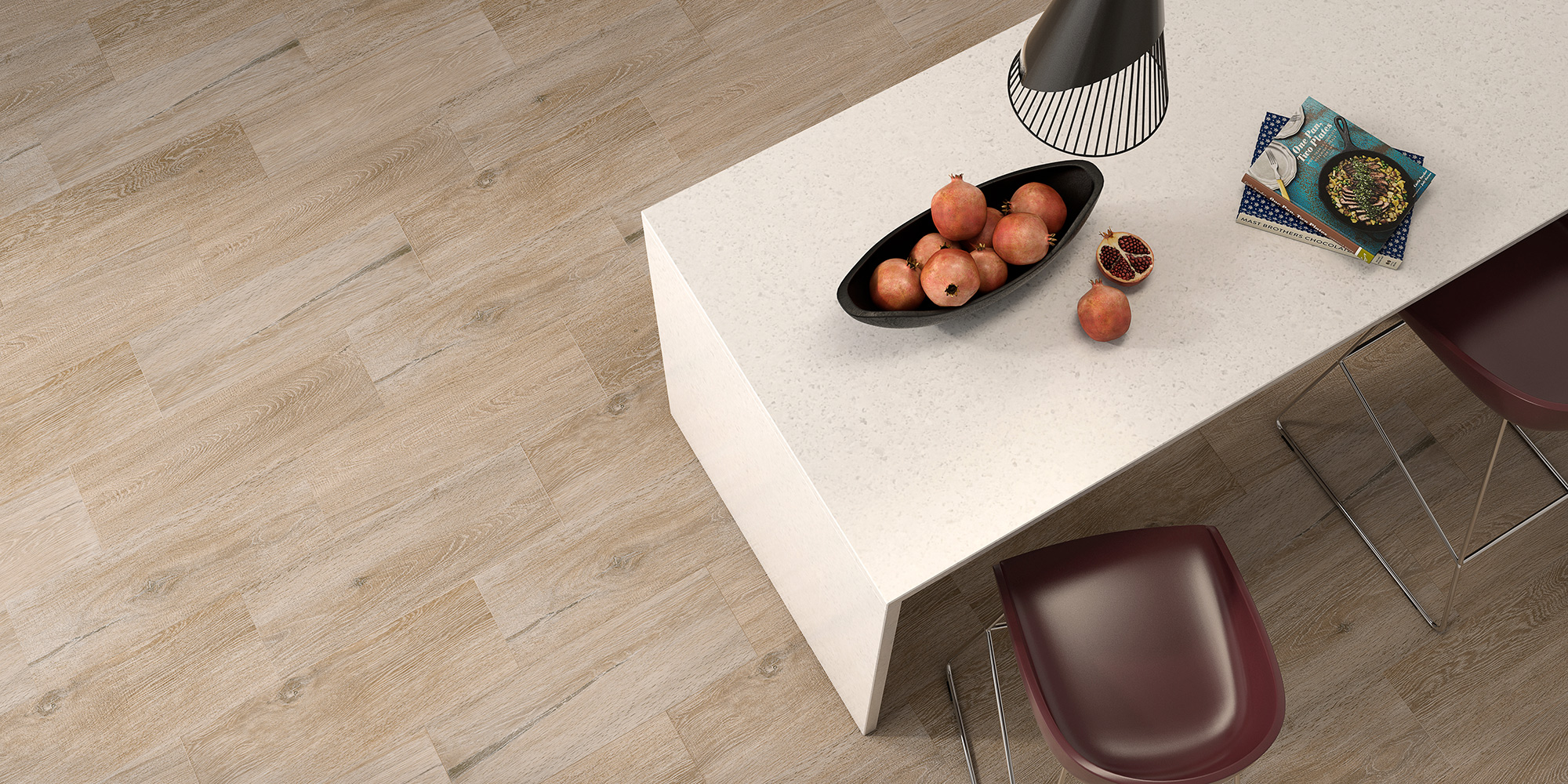Hudson 22.5x60. Waterproof wood look flooring for bathrooms and kitchens.