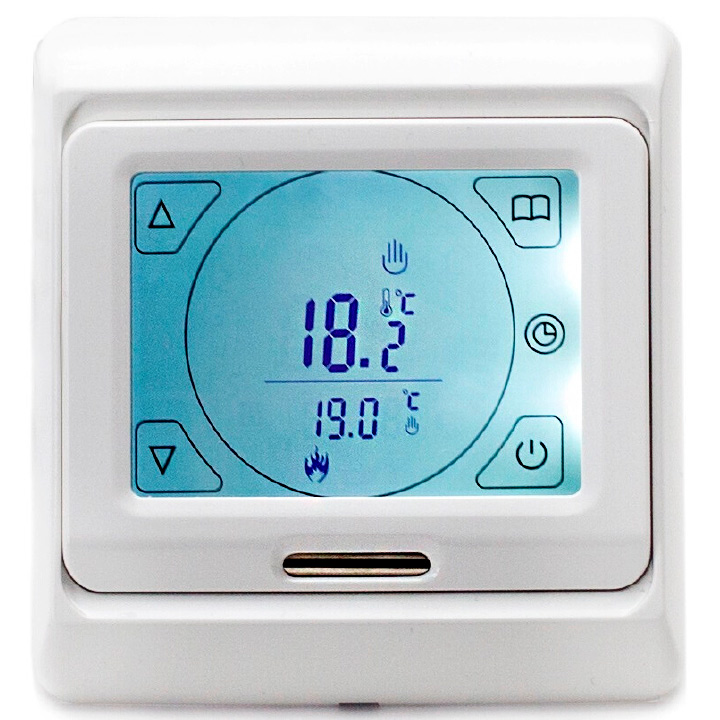 Amber Touch Thermostat. A fully programmable touch screen thermostat.