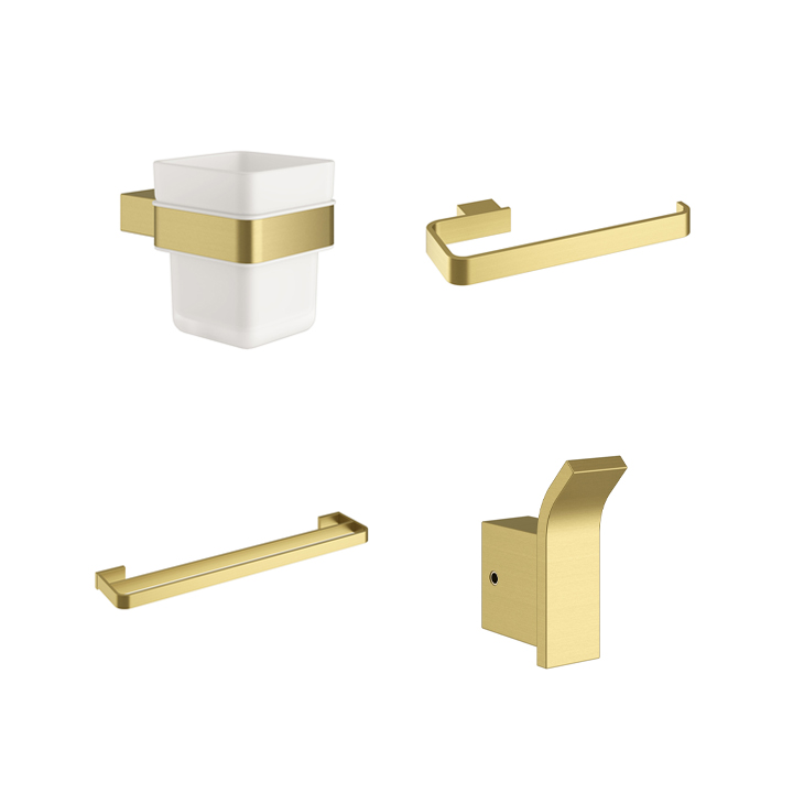 Bathroom accessories - Pure Brushed Brass