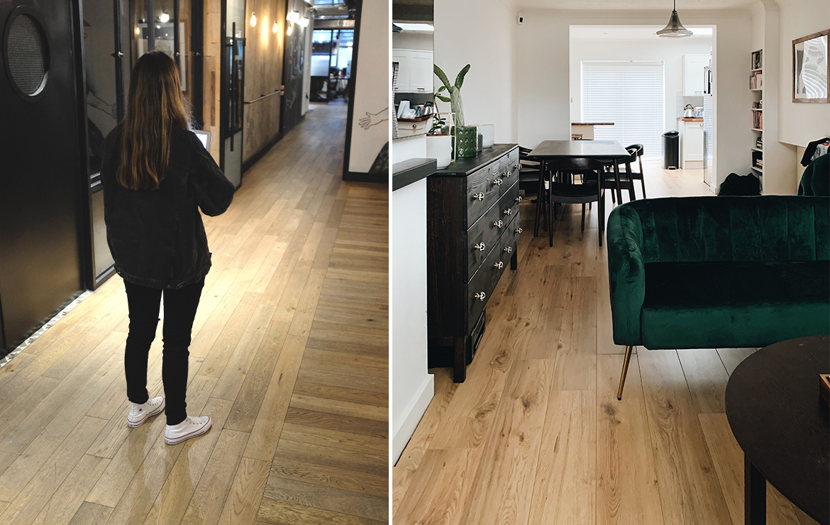 Caislean Oak Collection Engineered wood flooring for residential and commercial areas