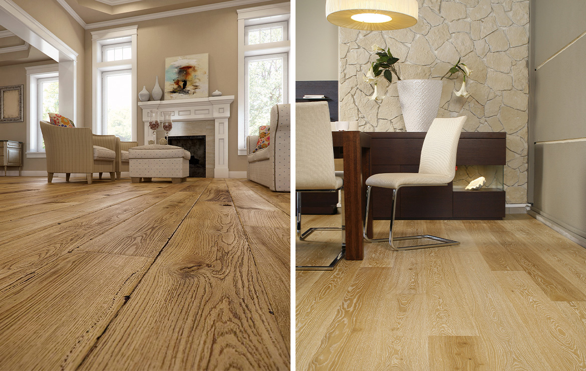 Irish house living rooms classic style interior design with engineered wood flooring Caislean Oak Collection