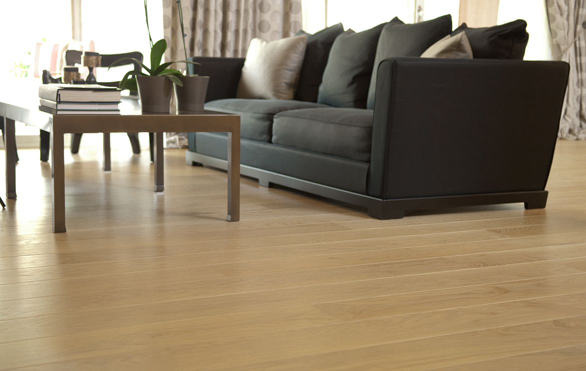 Irish house living room modern style interior design with engineered wood flooring Caislean Oak Collection