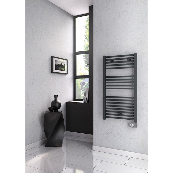 Bathroom electric radiator Colby Anthracite