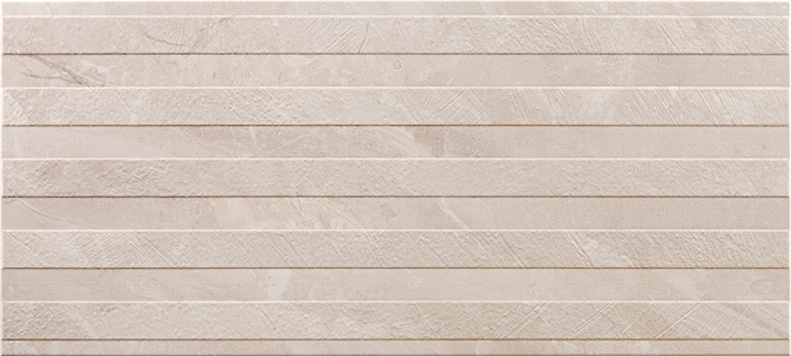 Ersa Relief Cream 36x80. 3D effect marble look decorative wall tile.