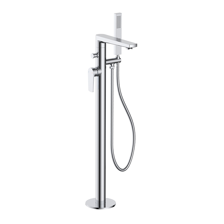 Floor standing bath shower mixer - Glide