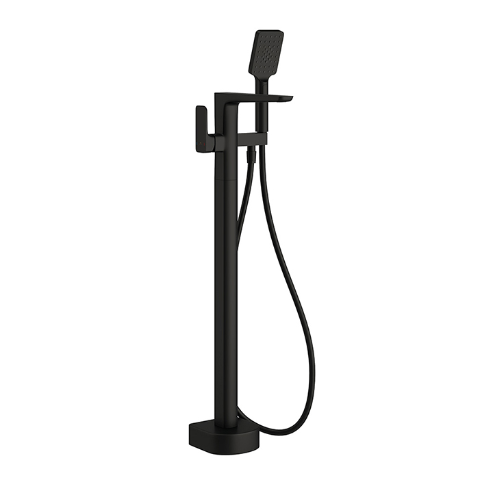 Floor standing bath shower mixer - Pure Black Edition