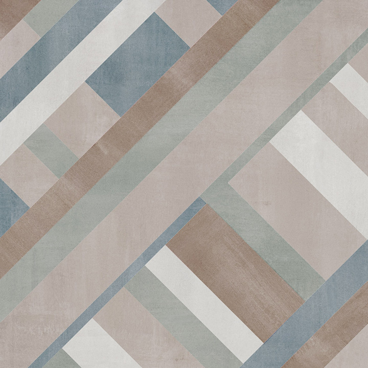 Forma Mix Mate 60x60. Modern style colour patterned floor tile. Pattern 3.