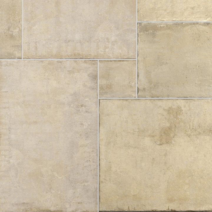 Heritage Rustic Concrete Look Modular Formats Porcelain Floor Tiles