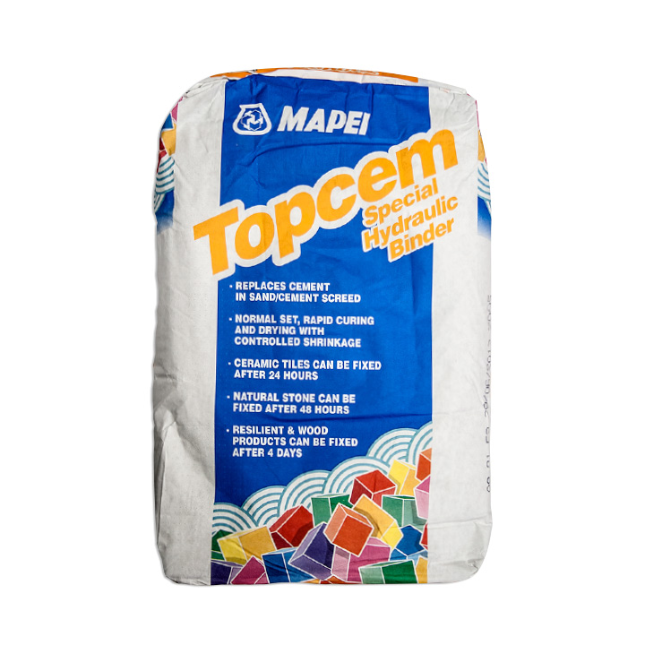 Mapei Ireland tile fixing solutions. Topcem special fast drying hydraulic binder.