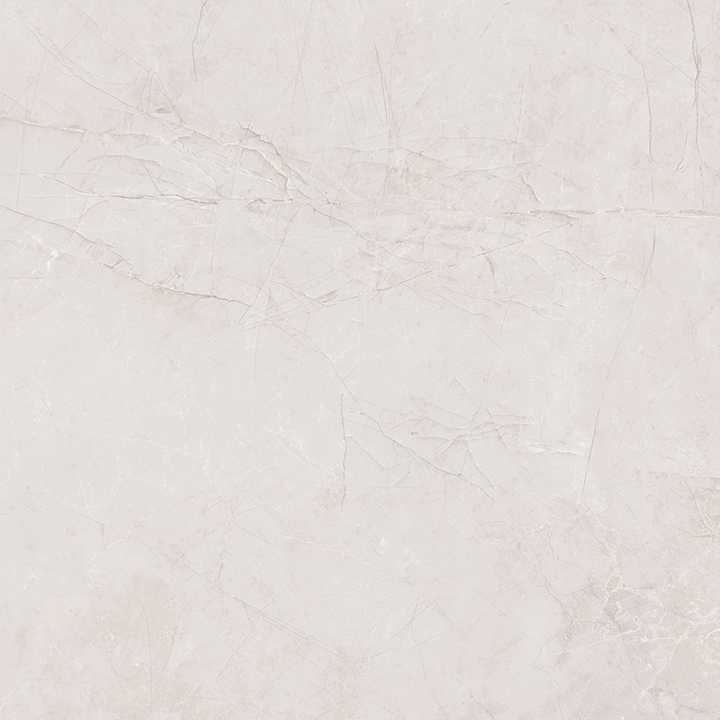 Metissage Blanco 60x60. High gloss finish large format stone look bathroom floor tile.