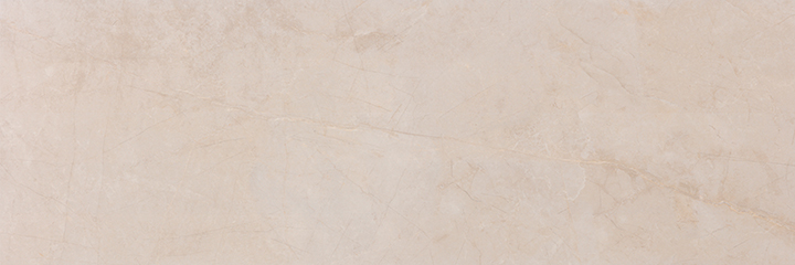 Metissage Crema 33x100. High gloss finish, large format, stone look bathroom wall tile.