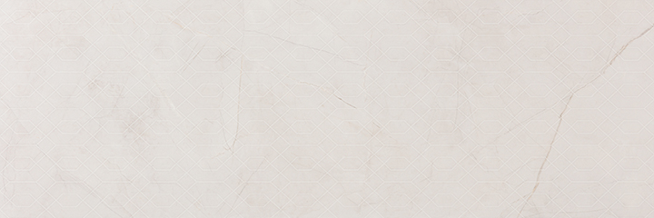 Metissage Decor Blanco 33x100. High gloss finish large format stone look decorative bathroom wall tile.