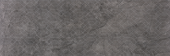 Metissage Decor Grafito 33x100. High gloss finish large format stone look decorative bathroom wall tile.