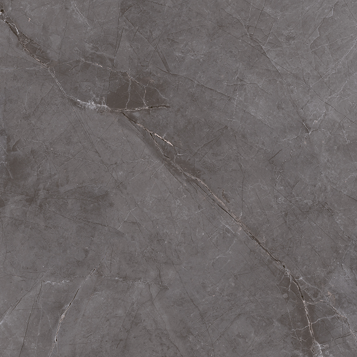 Metissage Grafito 60x60. High gloss finish large format stone look bathroom floor tile.