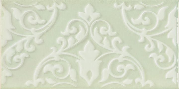 Cromatica Kleber Vision 25x75. Large format 3D effect decorative glossy bathroom wall tile.