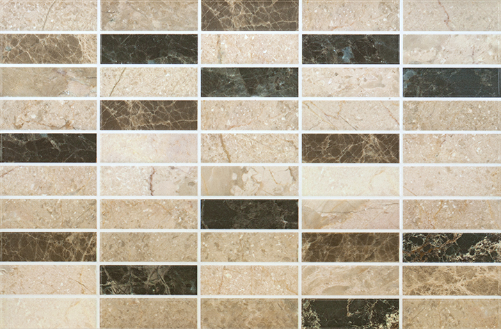 MR Cream 25x38. Marble look mosaic effect budget decorative wall tile.