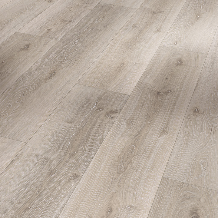Parador Basic 5.3 Grey White Washed Oak 1209x225x5.3mm. Wood effect vinyl flooring.