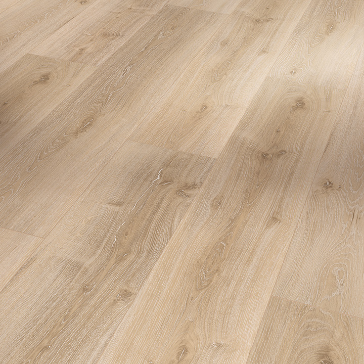 Parador Basic 5.3 Royal Light Limed Oak 1209x225x5.3mm. Wood effect vinyl flooring.