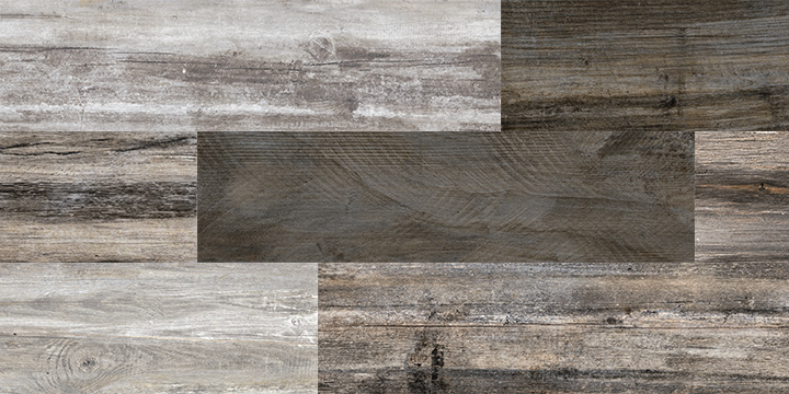 Retro Deep 22x84. Old wood effect porcelain wall and floor tile with anti-slip rating R10 A.