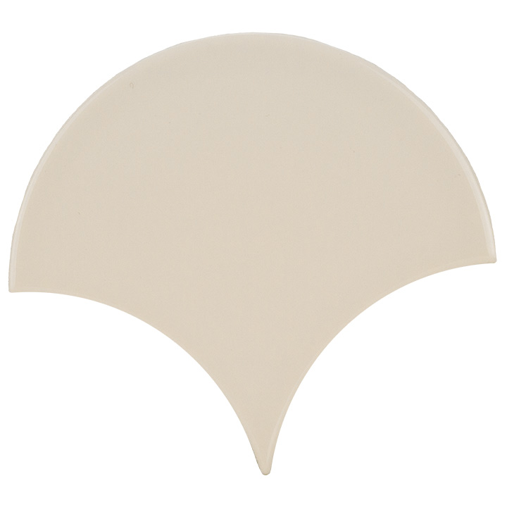 Scale Fan Ivory 10.6x12. Vintage style and look wall tile for bathrooms and kitchen splashbacks.