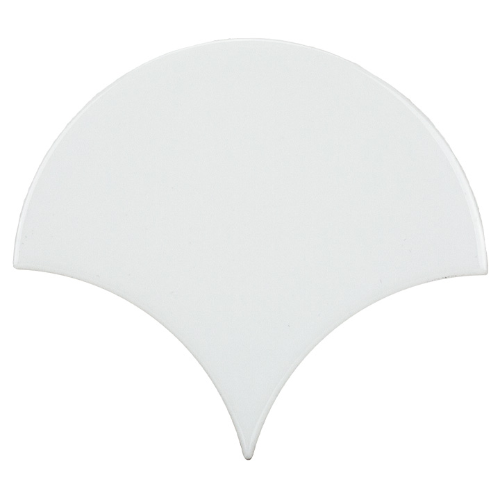 Scale Fan White 12x12. Vintage style and look wall tile for bathrooms and kitchen splashbacks.