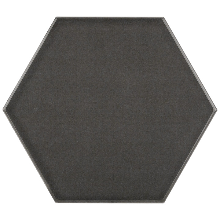 Scale Hexagon Dark Grey 10.7x12.4. Vintage style and look hexagonal wall tile for bathrooms and kitchen splashbacks.