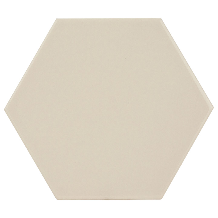 Scale Hexagon Ivory 10.7x12.4. Vintage style and look hexagonal wall tile for bathrooms and kitchen splashbacks.