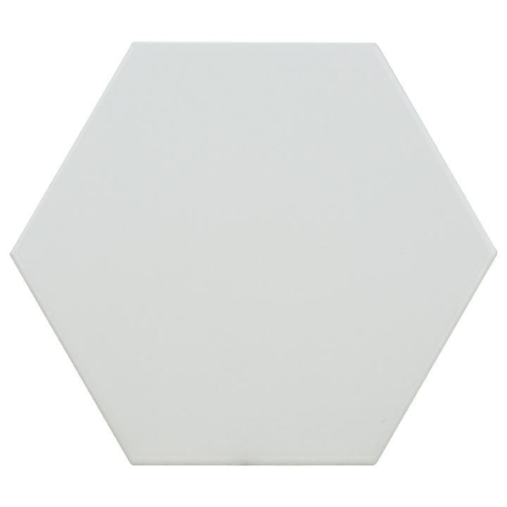 Scale Hexagon White 10.7x12.4. Vintage style and look hexagonal wall tile for bathrooms and kitchen splashbacks.