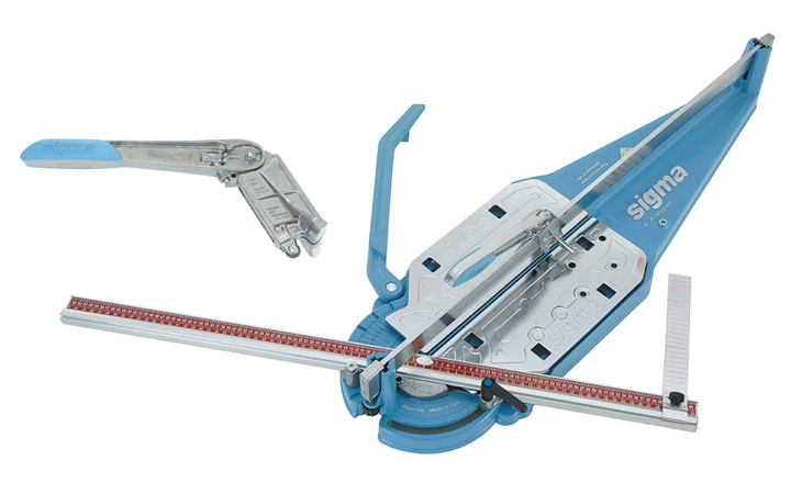 Sigma Ireland. Manual tile cutter with klick klock system for large format tiles.
