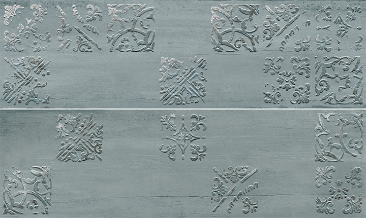Sospiro Artisan A B Ocean 29x100. Patterned wall decor tiles.