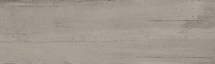 Sospiro Smoke 29x100. Monocolour concrete look large format wall tile.
