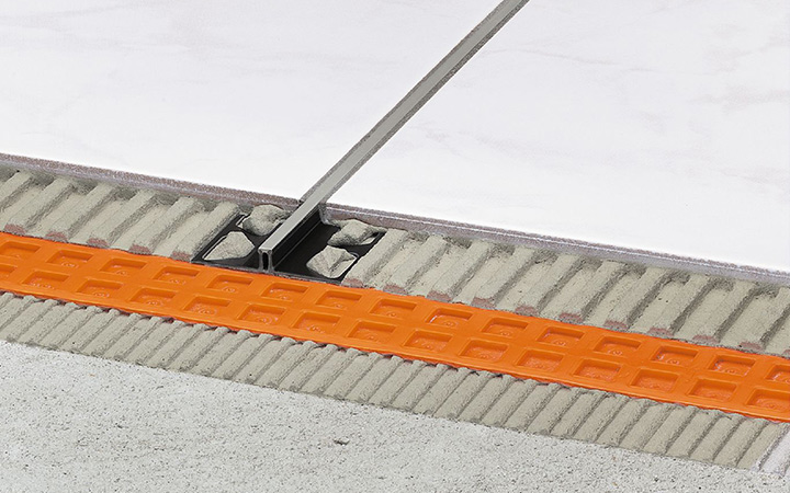 Schluter Systems in Ireland tile accessories. Dilex BWS movement joint profile.