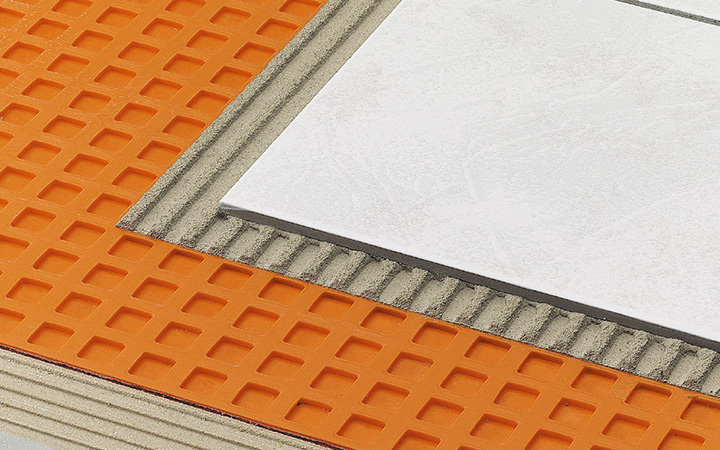 Schluter Systems in Ireland tile accessories. Ditra uncoupling to prevent cracked tile and grout.