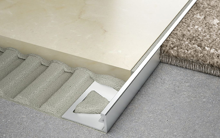 Schluter Systems in Ireland tile accessories. Schiene edge protection profile.