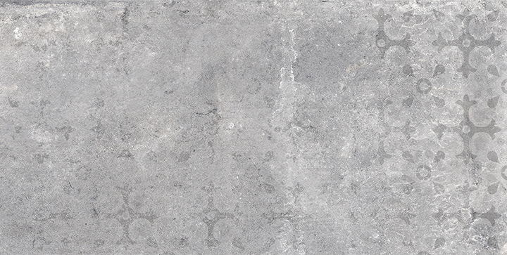 Universe Edison Grey 30x60. High gloss antique fresco effect decorative wall tile