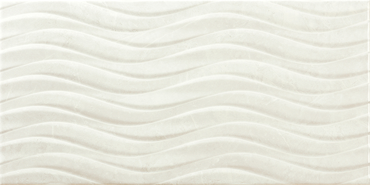 Venice Bend Blanco 30x60. High gloss marble look 3D effect decorative wall tile.