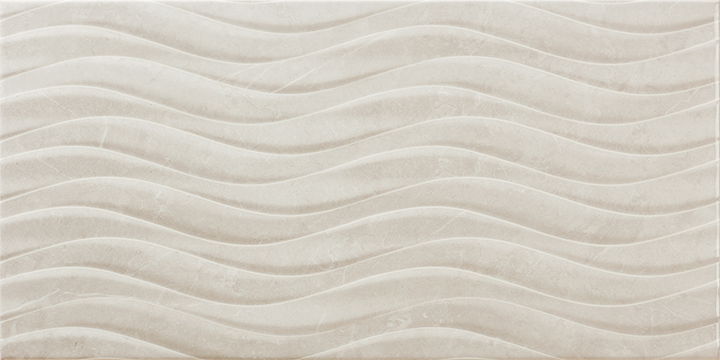 Venice Bend Perla 30x60. High gloss marble look 3D effect decorative wall tile.