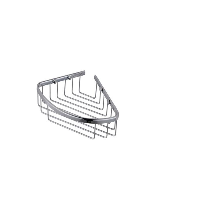 Wall mounted deep triangular corner shower basket