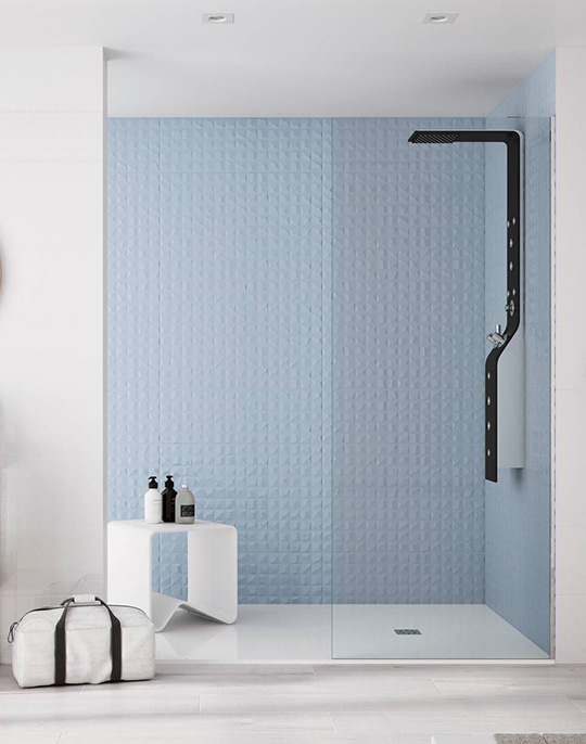 Cromatica. High gloss colour wall and floor tiles with 3D effect decors. View collection.