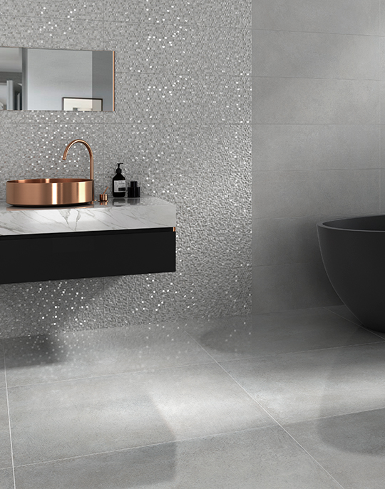 Hit Emi 25x75. Monocolour textured gloss finish bathroom tiles. View collection