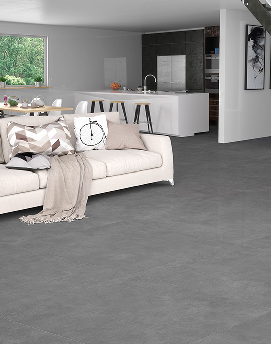 Metropoli 80x80 60x120 40x80 cement look large format honed / semi-polished porcelain tiles. View collection.
