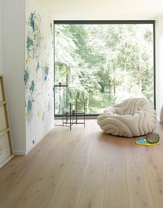 Parador Trendtime 6 extra long plank wood effect laminate flooring. View collection.