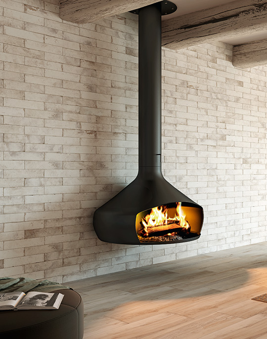 Pave Wall. Shaded brick effect vintage style wall tiles for stove wall protection. View collection.