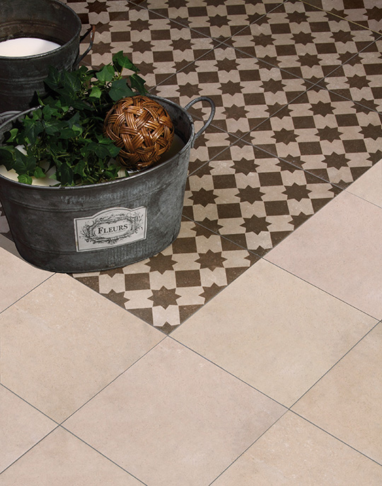 Vintage and Retro 25x25. Victorian Style patterned floor tiles. View collection.